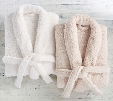 Teddy Bear Faux Fur Bath Robe