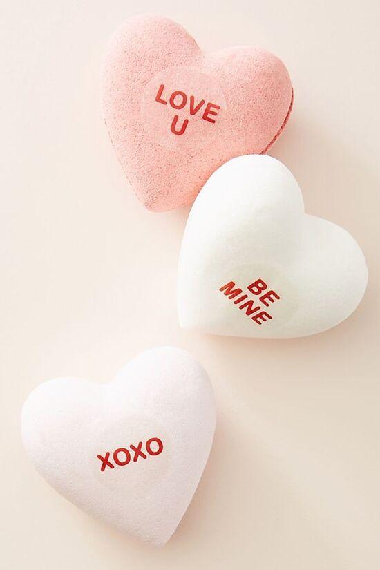Conversation Heart Bath Bomb
