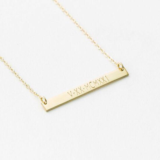 Custom Roman Numerals Necklace