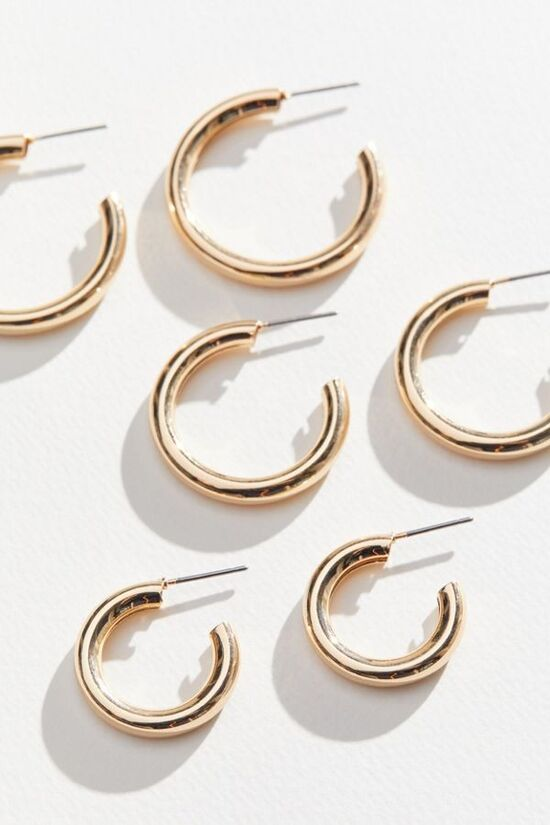 Hollow Hoop Earring Set