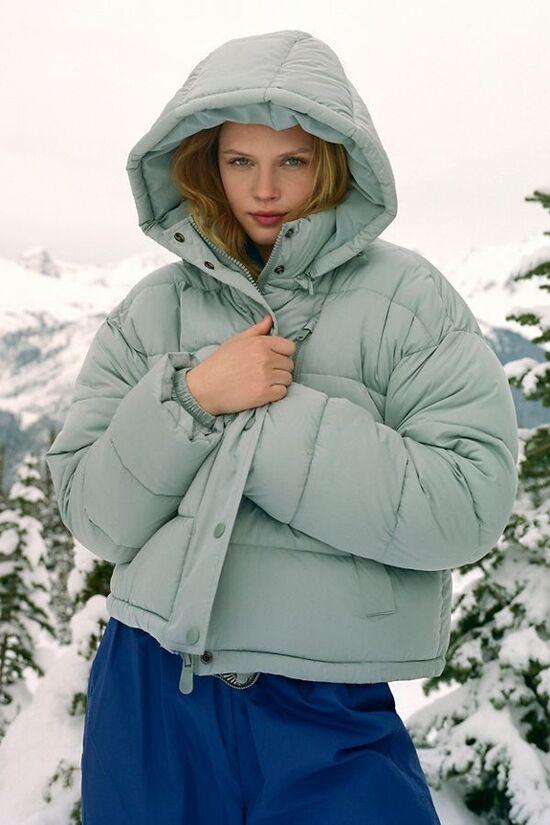 UO Mae Hooded Puffer Jacket