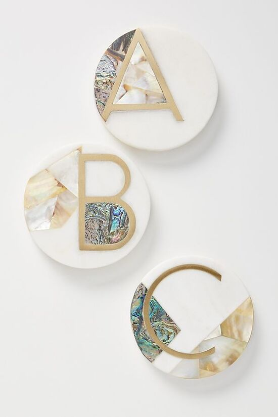 Marina Monogram Coaster