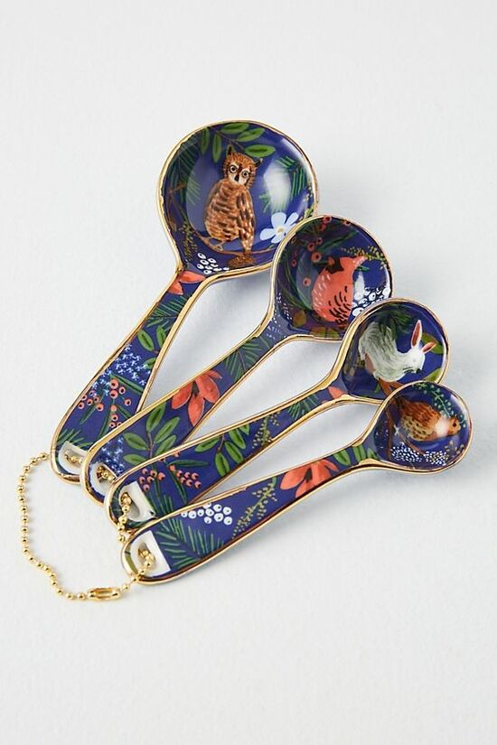 Rifle Paper Co. for Anthropologie Winter Floral Measuring Spoons