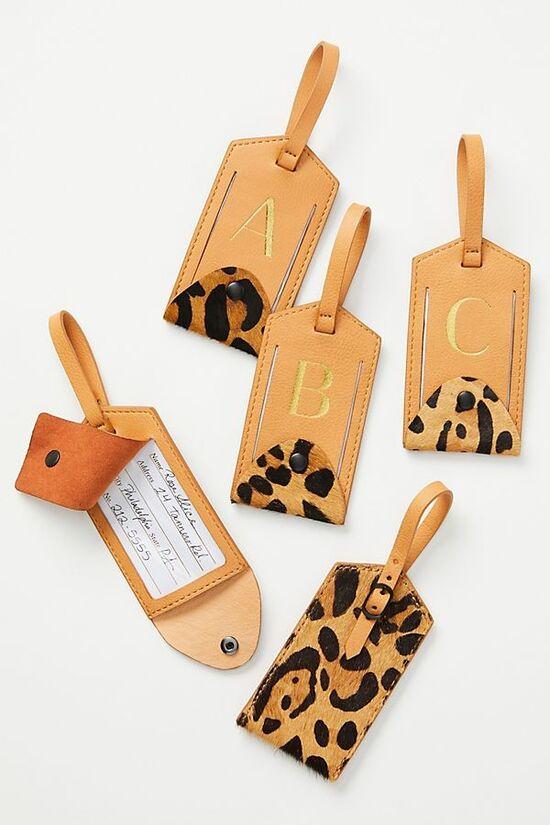 Animalia Monogram Luggage Tag