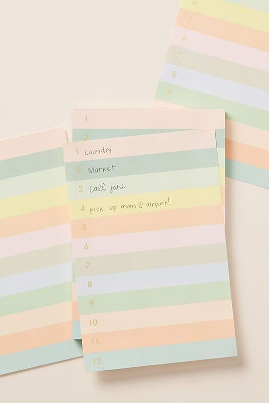 Rifle Paper Co. Andie Colorblocked Notepad