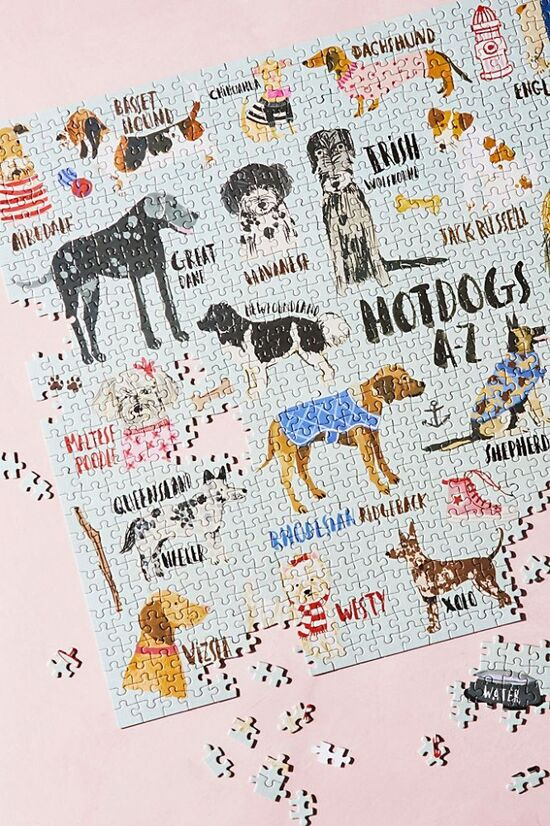 Hot Dogs A-Z 1,000-Piece Puzzle | Free People