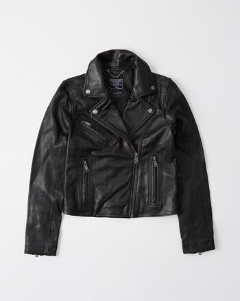 Leather Moto Jacket - Abercrombie & Fitch