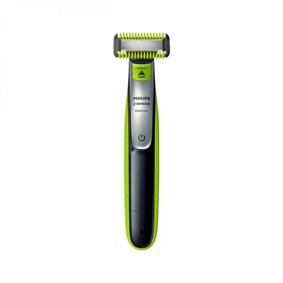 Philips Norelco - OneBlade Face + Body Trimmer - Black/Silver/Green