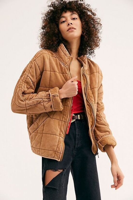 Dolman Quilted Knit Jacket | Free People