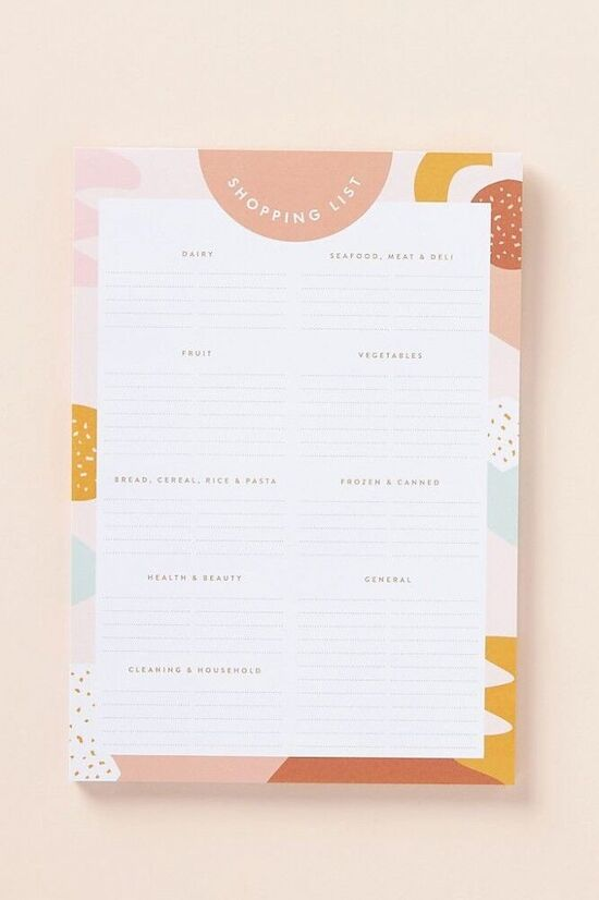 Muse Magnetic Shopping List Pad