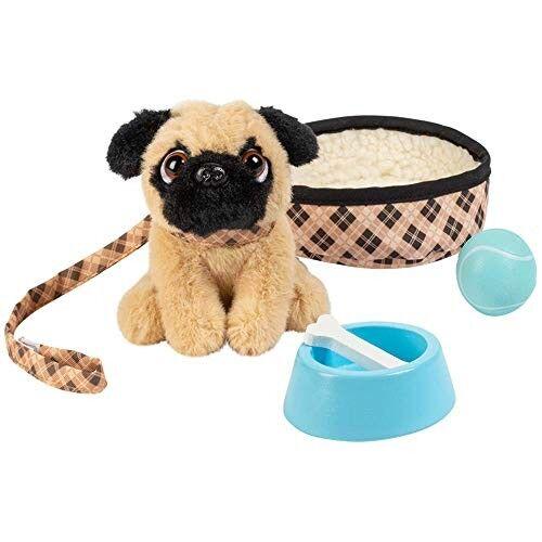 Preston the Brown Pug + Accessories