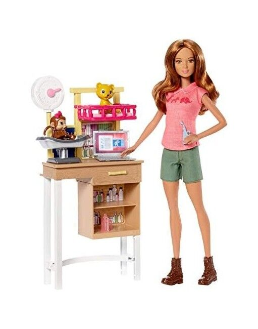 Barbie Doll Zoo Doctor Play Set with Two Patients