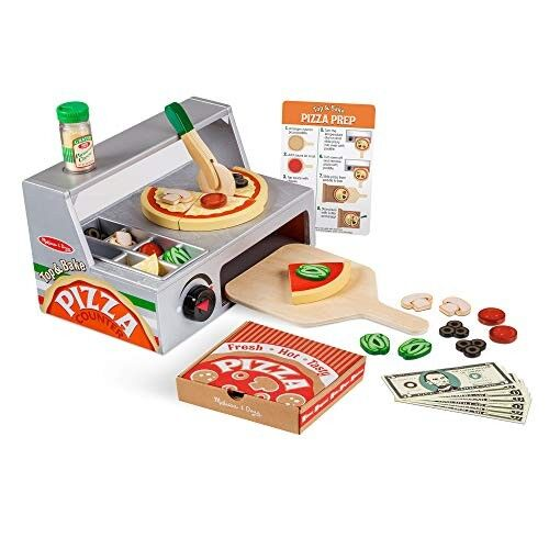 Wooden Pizza Counter