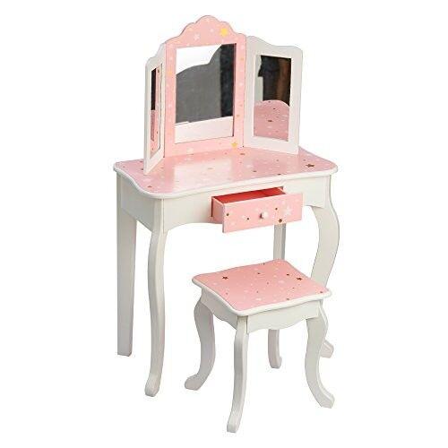 Kids Vanity Table and Chair Vanity Set