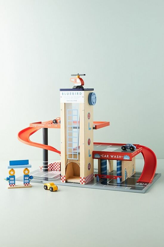Blue Bird Service Station Play Set