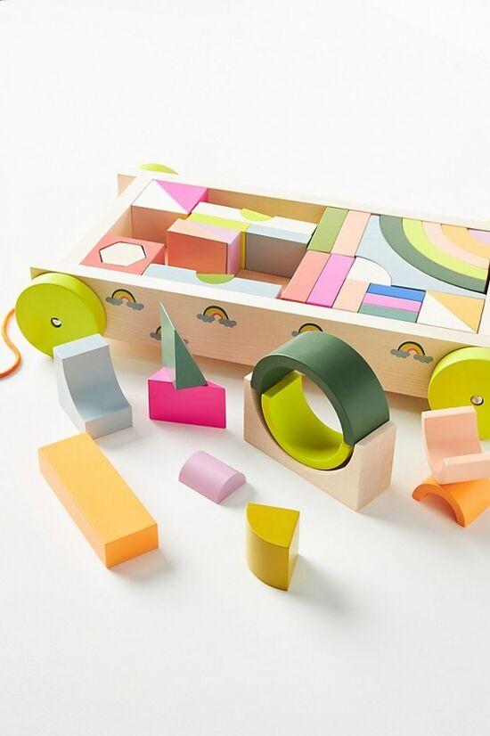 Rainbow Block Wagon