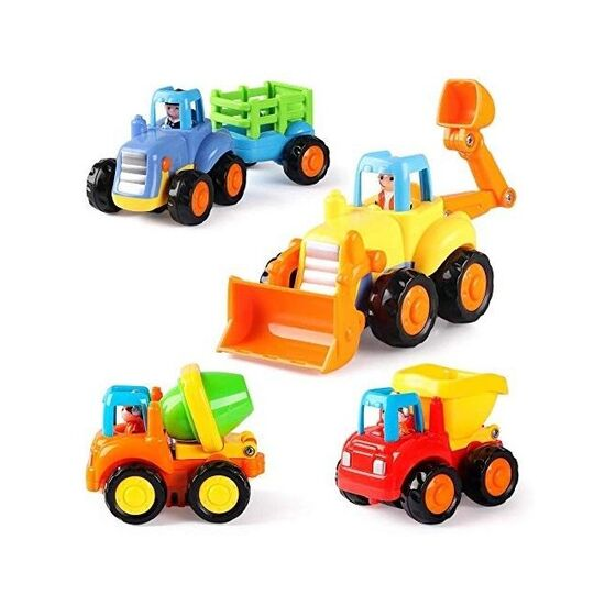 4 Pack Friction Powered Cars