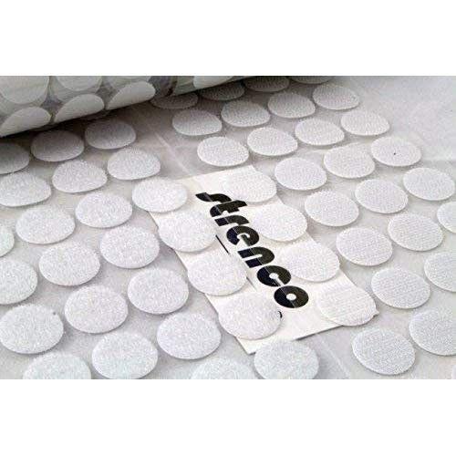 AMAZON-3/4 Inch - 500 Sets - Adhesive Hook and Loop Dots White - 500 Sets/Pairs (1000 PCS) - 20 mm Self Adhesive Coins