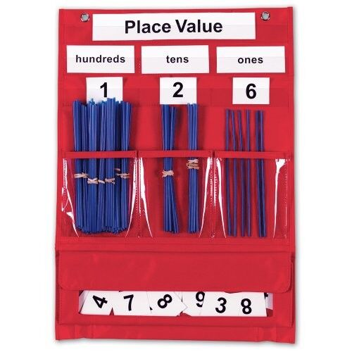 AMAZON Learning Resources Counting & Place Value Pocket Chart