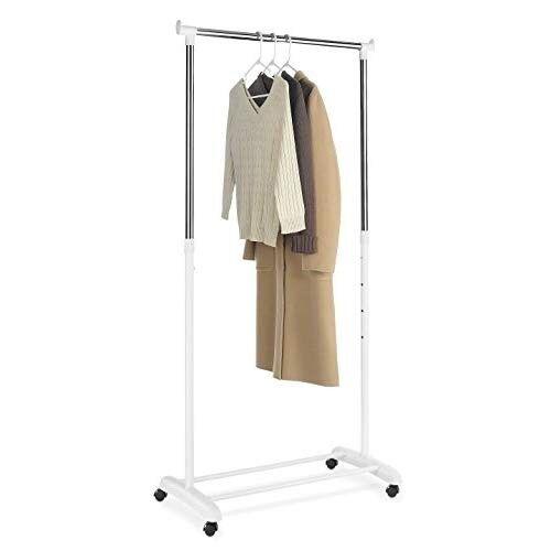 AMAZON Whitmor Rolling Adjustable Garment Rack
