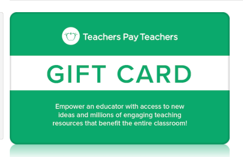 Teachers Pay Teachers Gift Card