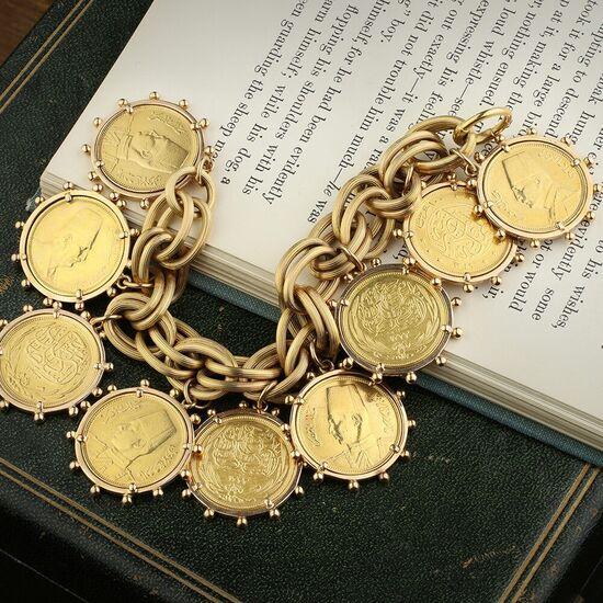 A Gold Coin Bracelet - FD Gallery