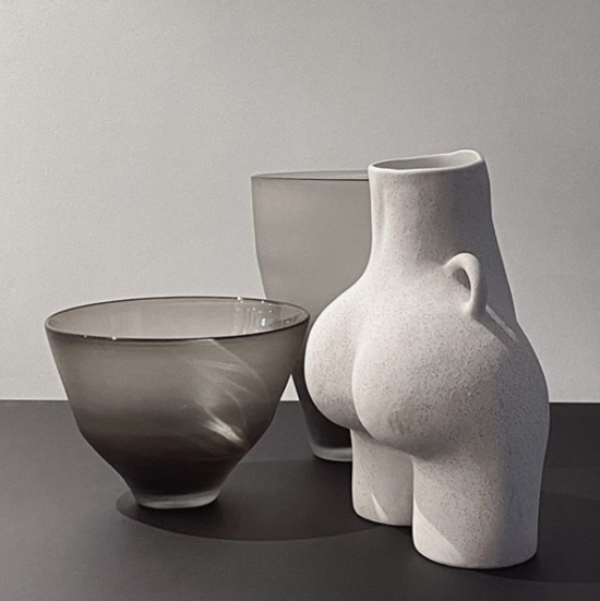 Love Handles Vase Grey Speckled
