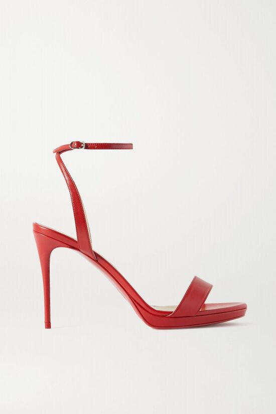 Christian Louboutin Red Leather Sandals