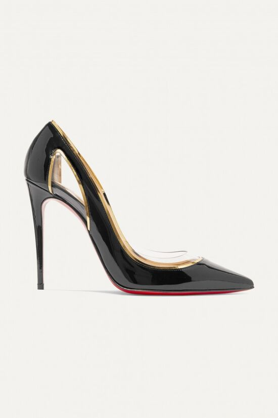 Christian Louboutin Cosmo 100 Black Patent Leather Pumps
