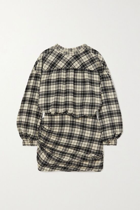 Isabel Marant Faber Checked Flannel Mini Dress