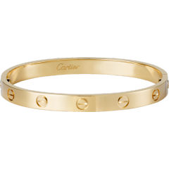 LOVE bracelet: LOVE bracelet, 18K yellow gold. Sold with a screwdriver.