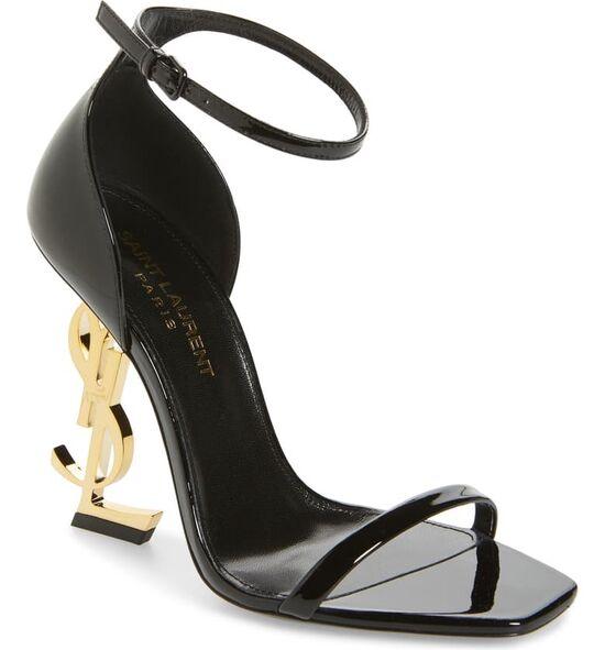 Saint Laurent Opyum YSL Ankle Strap Sandal (Women) | Nordstrom