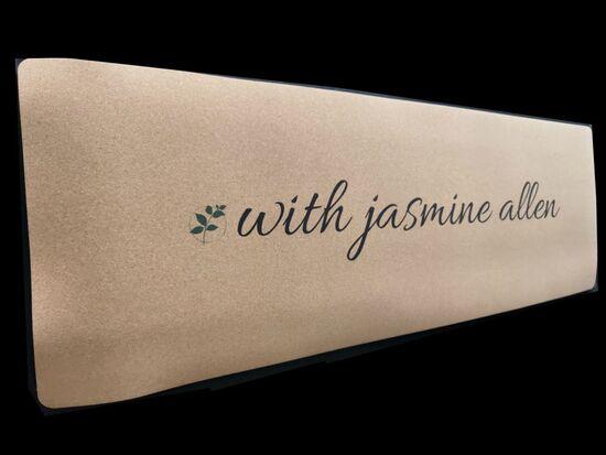 With Jasmine Allen Signature Cork Mat  — JASMINE ALLEN