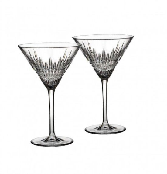 Lismore Martini Glass Pair