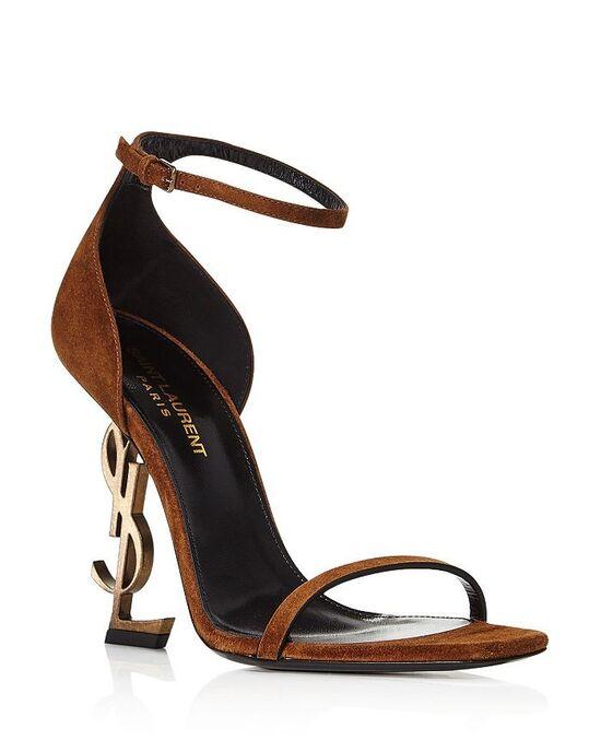 Saint Laurent Women's Opyum Logo-Heel Sandals Shoes - Bloomingdale's