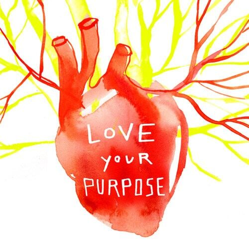 Love Your Purpose greeting card