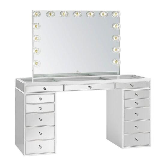 SlayStation® Pro Premium Mirrored Vanity Table - Impressions Vanity Co.