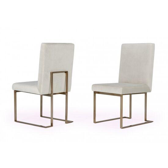 Modrest Fowler - Modern Grey Velvet Dining Chair Set of 2