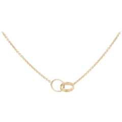 LOVE necklace: LOVE necklace, 18K yellow gold. Inner diameter 8mm. Chain length: 440mm.