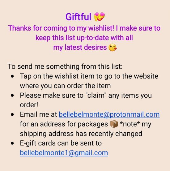 ⭐Instructions for sending a gift⭐