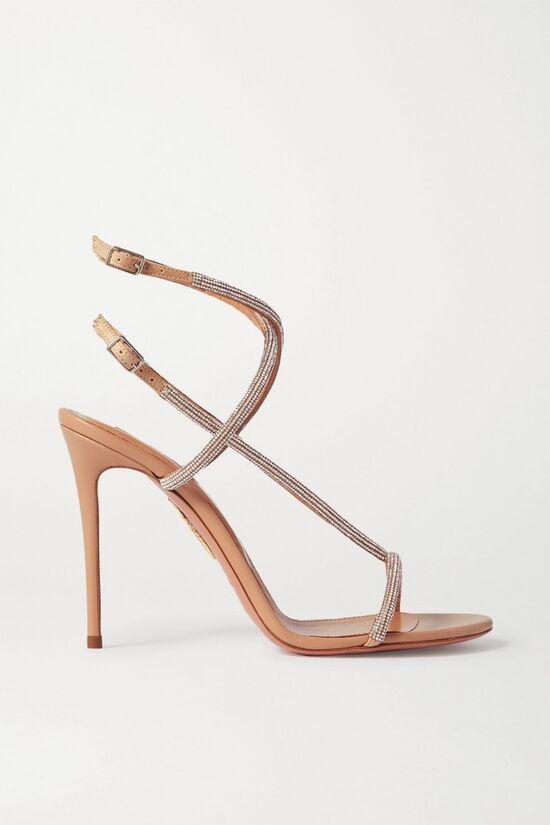 Moondust Crystal-Embellished Sandals
