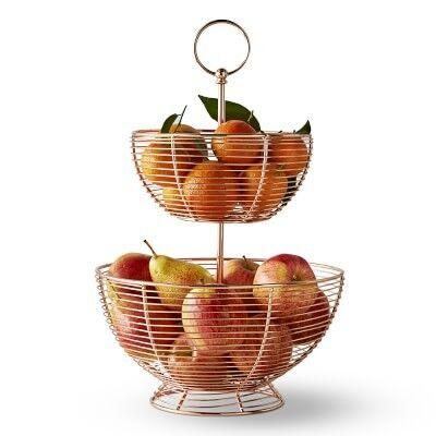 Copper Wire Fruit Basket