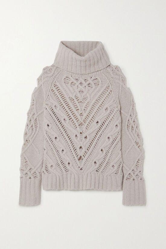 ALTUZARRA Ernestine cable-knit turtleneck sweater
