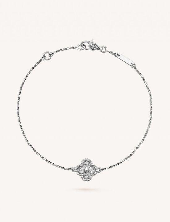 VAN CLEEF & ARPELS Sweet Alhambra gold and diamond bracelet