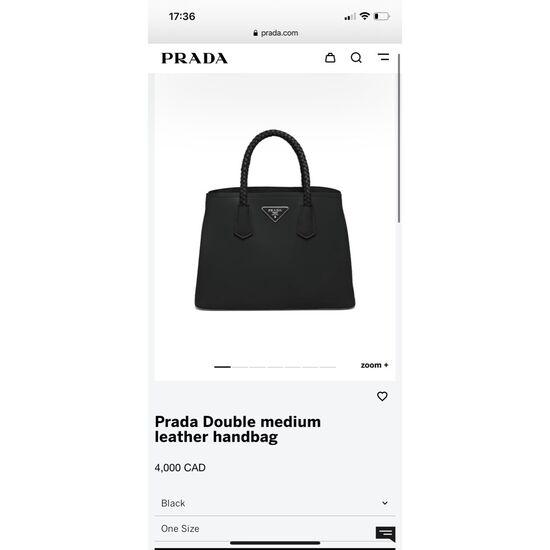 Prada double medium leather bag
