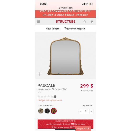 Structube Pascale mirror