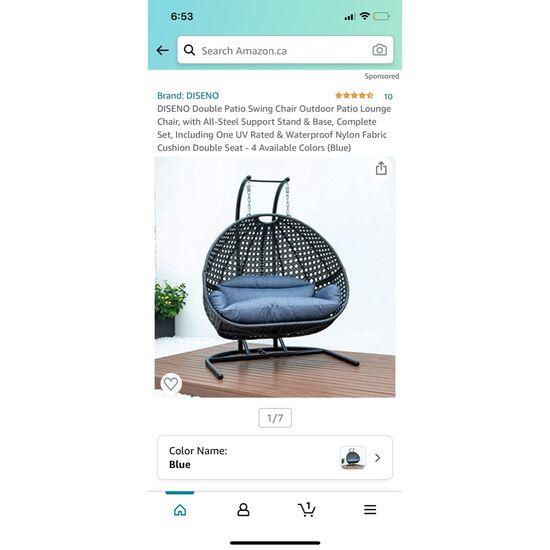 Diseno outdoor swing chair