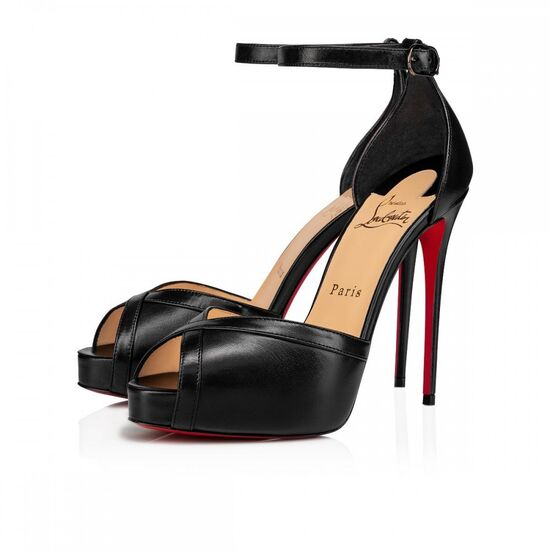 VERY CATHY 120 BLACK LEATHER - Women Shoes - Christian Louboutin