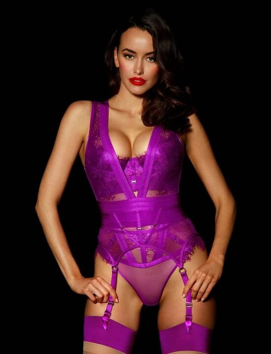Belinda Orchid Bodysuit Set