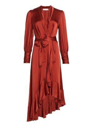 Zimmermann - Ladybeetle Wrap Silk Midi Dress